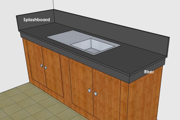 Splash Board Kitchen Splashboard  Saint Mark Construction Supply